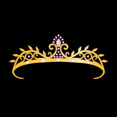 Gold tiara princess