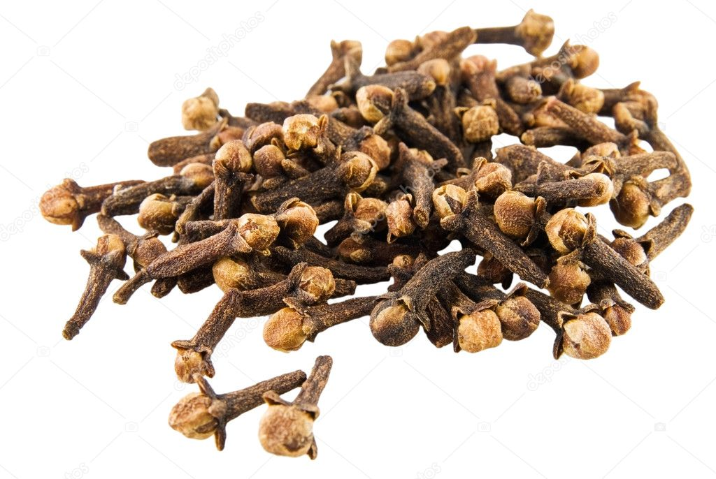Clove on white background