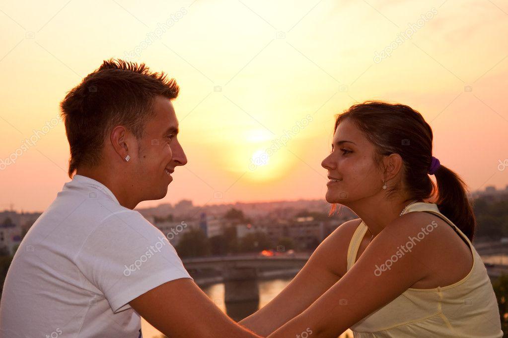 Beautiful, boyfriend, couple, fun, girl, girlfriend, laughing, looking,  love, man, passion, relationship, smile, sun, sunset, teen, teenage,  teenagers, ...