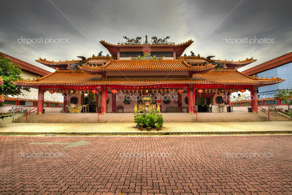 Chinese Temple Paved Square