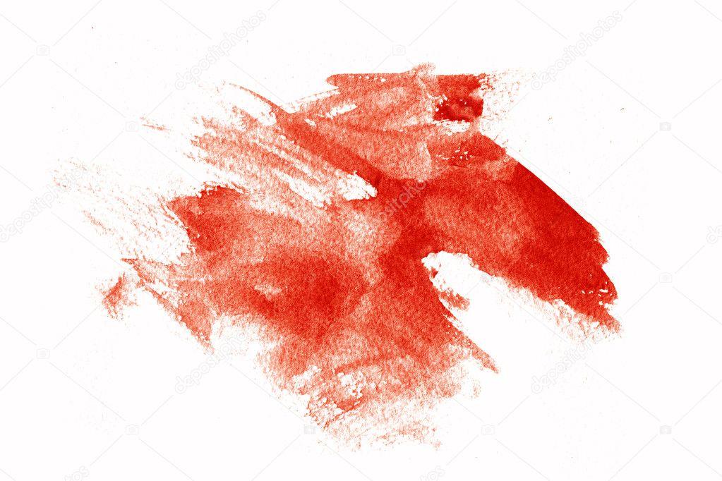 abstract red paint splatter on white — stock photo © melking #3206645