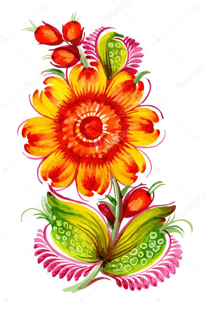Картинки цветы векторные