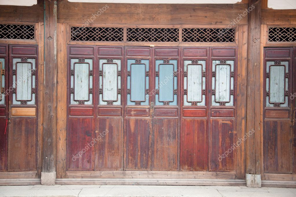 cadre de porte en bois ferm e chinois photographie. Black Bedroom Furniture Sets. Home Design Ideas
