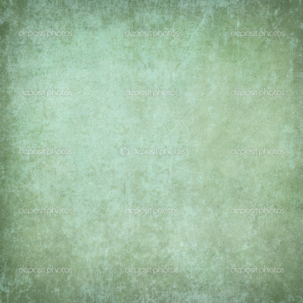 Green Grunge Plaster Background Stock Photo