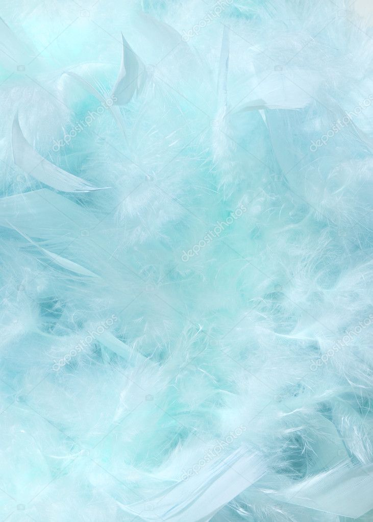Cloudy blue sky fluffy feather background