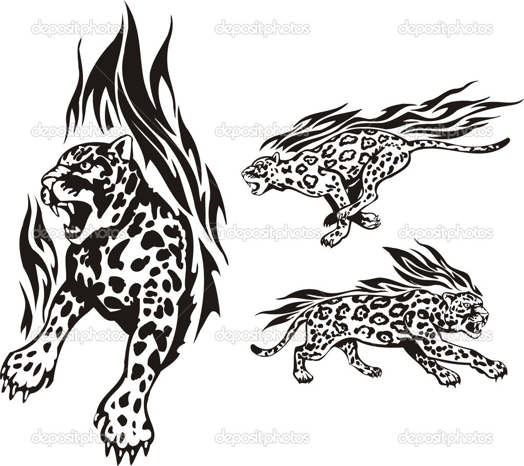 Flaming big cats.