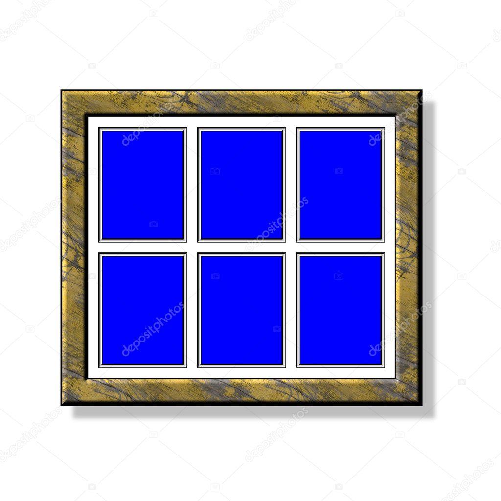 Pintura marco seis cuadros tipo 4:3 — Foto de stock © jbouzou #3345612