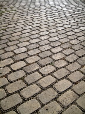 Stone block paving background