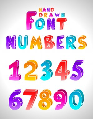 Hand drawn vector font