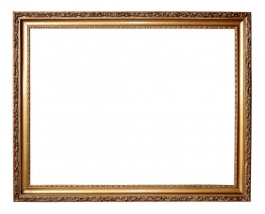 Gold frame with a decorative pattern
