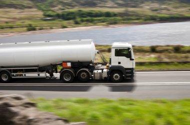 Big fuel gas tanker truck