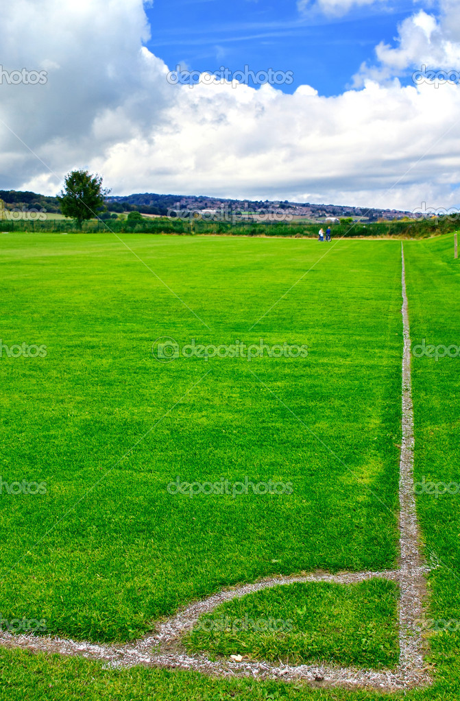 Soccer green field