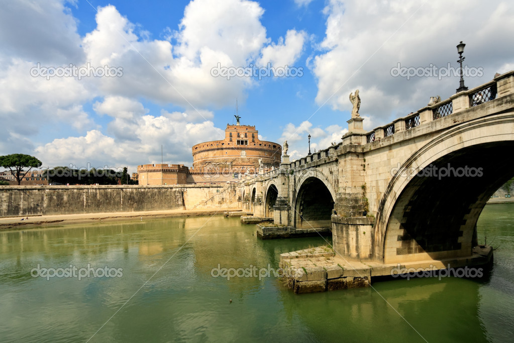 Castle on the Tiber in Rome,Italy