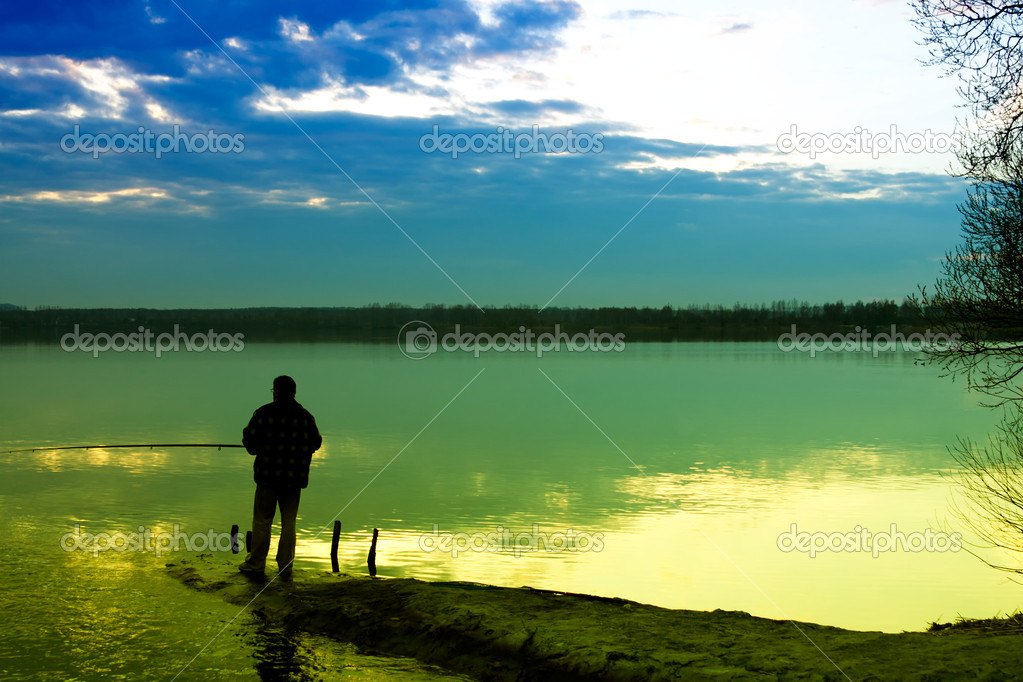 Fishing in a lake