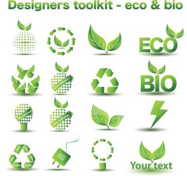 Designers toolkit - eco & bio icons