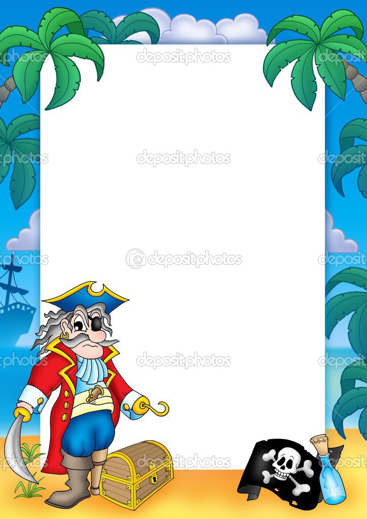 Frame with pirate 3 — Stock Photo © clairev #2940533