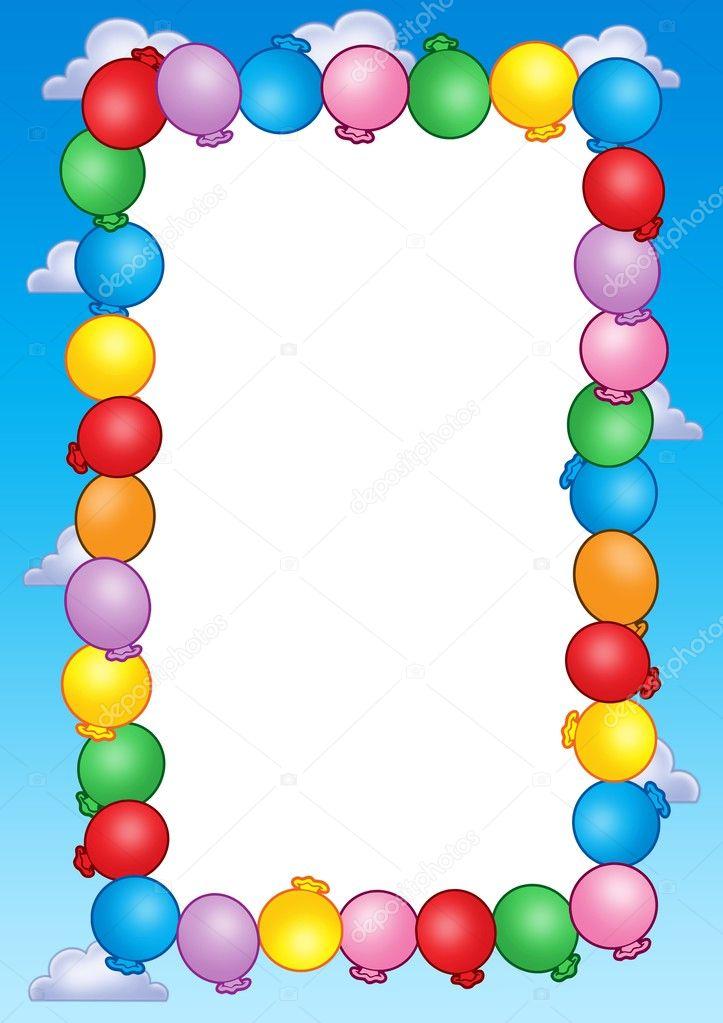 Party-Einladung-Rahmen mit Ballons — Stockfoto © clairev #2941958