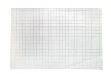 Blank squared notebook sheet