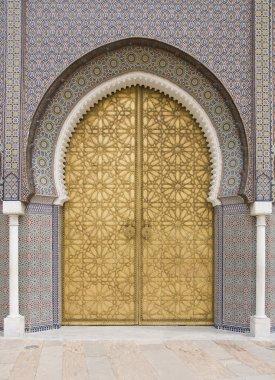 Golden door in Fes, door of Royal palace