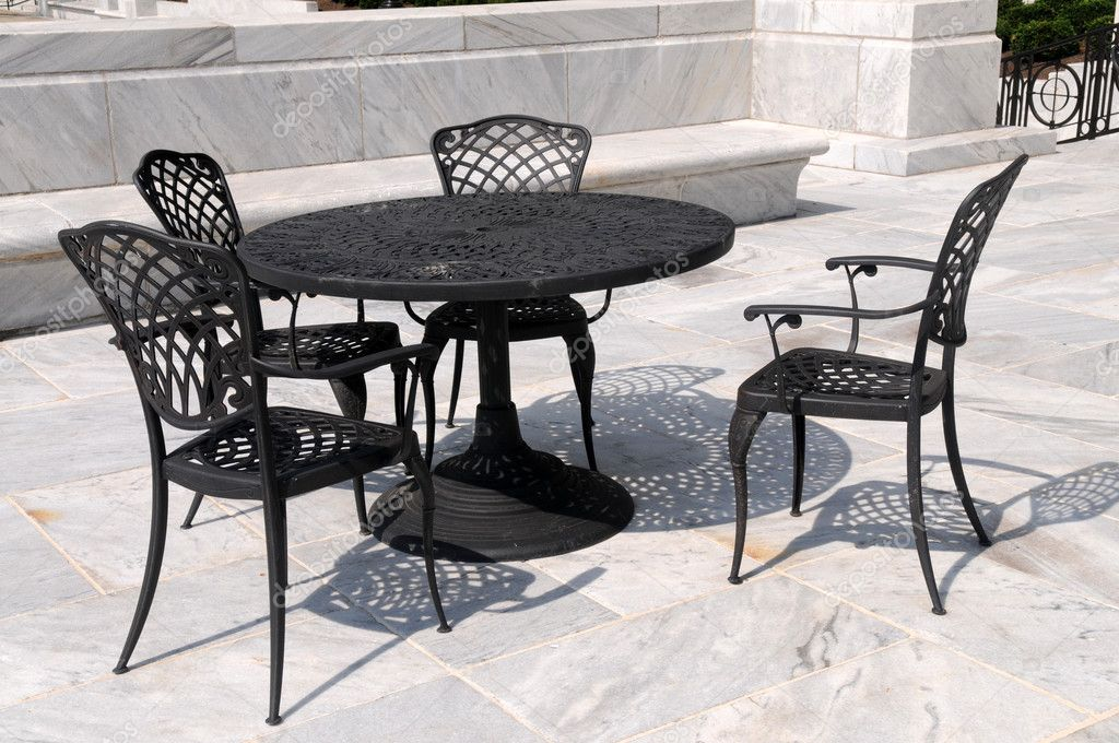 Marble Patio With Wrought Iron Furniture, Columbus, Ohio U2014 Photo By  Disorderly