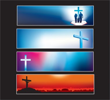 Website banner set for modern christian