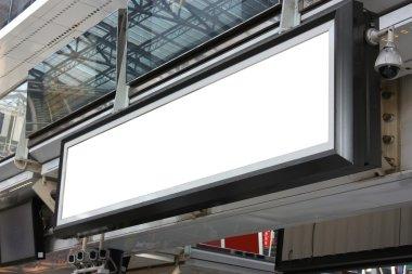 Blank billboard advertising hoarding