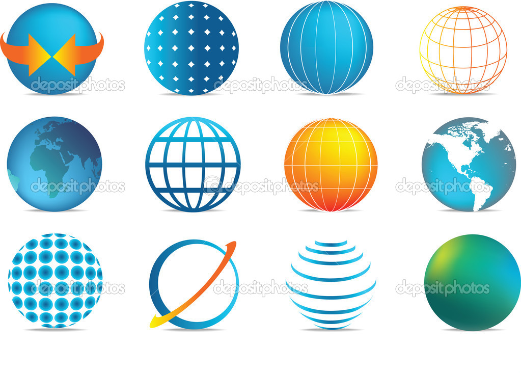 Colour globe icons