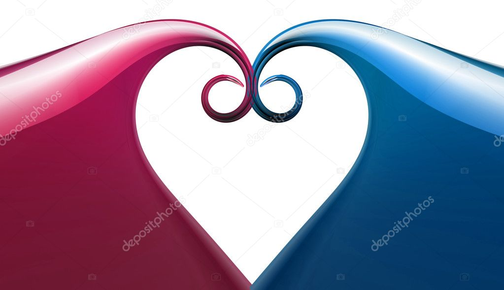 Abstract Pink And Blue Love Symbol Stock Photo Chrisroll 2738041