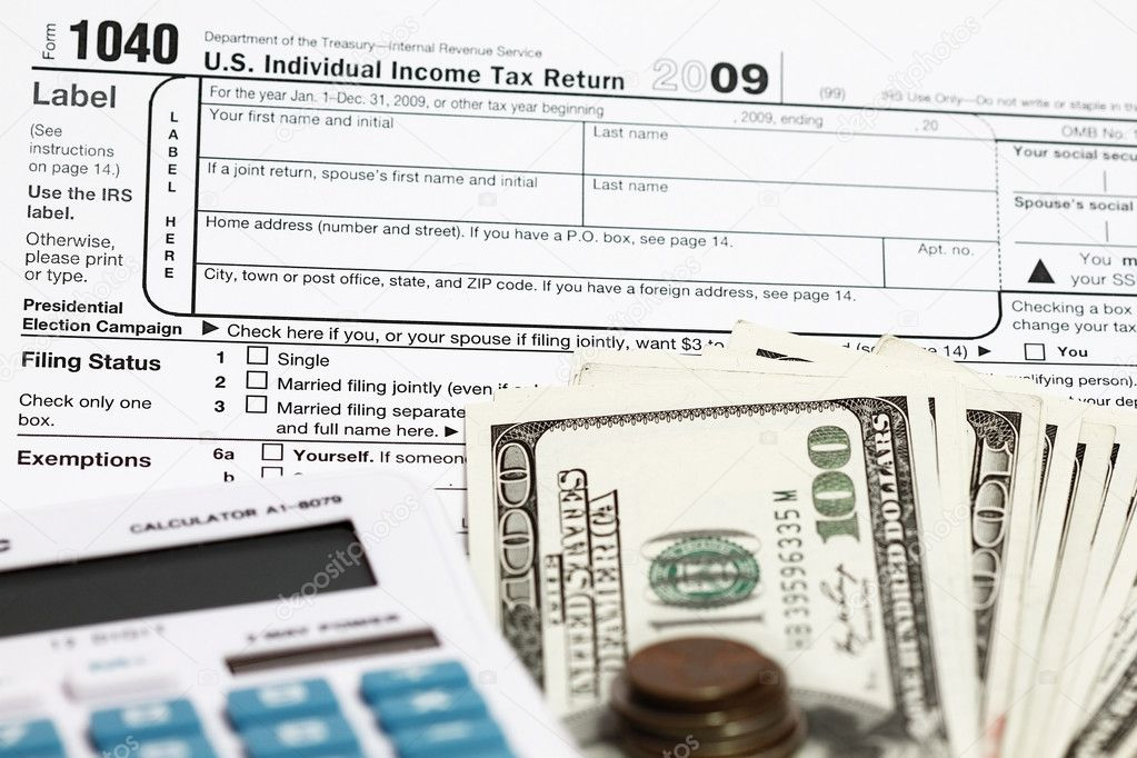 1040 Tax Form Stock Photo Fiftycents 3769756