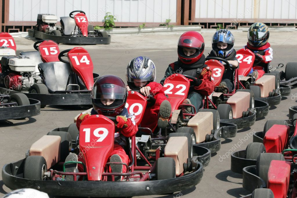 Start. Go-Kart racing for kids — Stock Photo © geniuslady #3470961