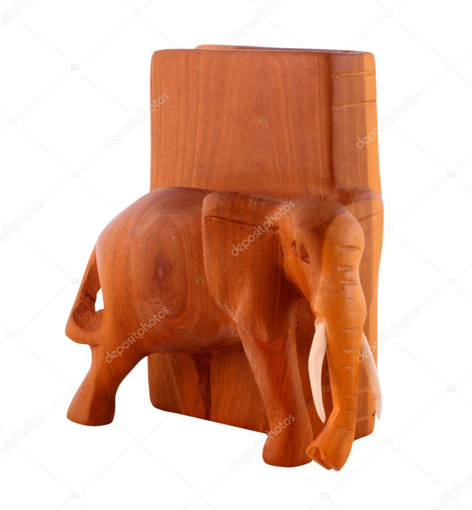 Wooden elephant bookend — Stock Photo © tonlammerts #2701228