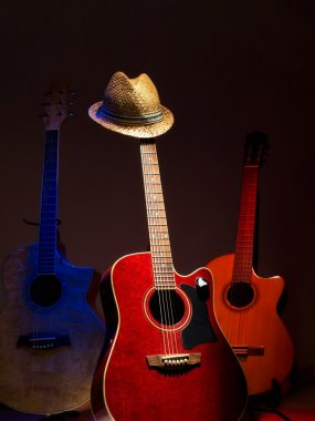 Hat and guitars