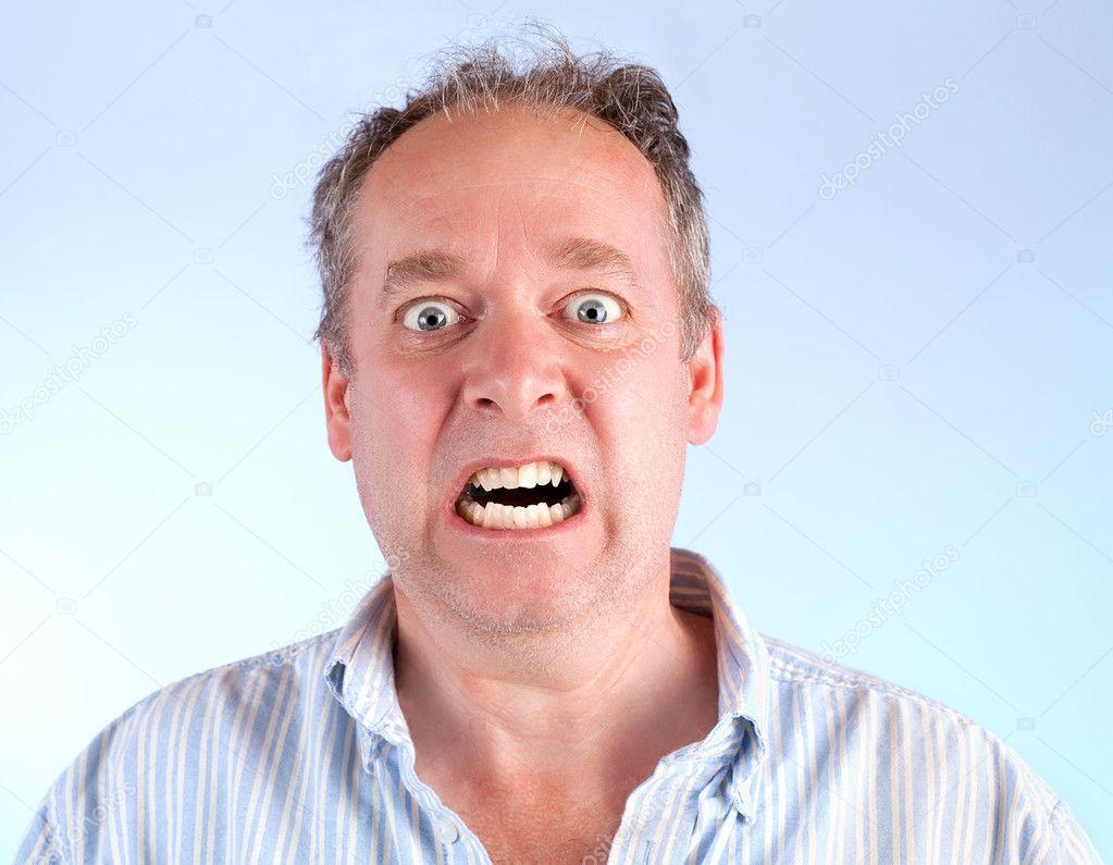 Man Enraged About Something