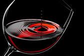 Fotografia gocce di vino