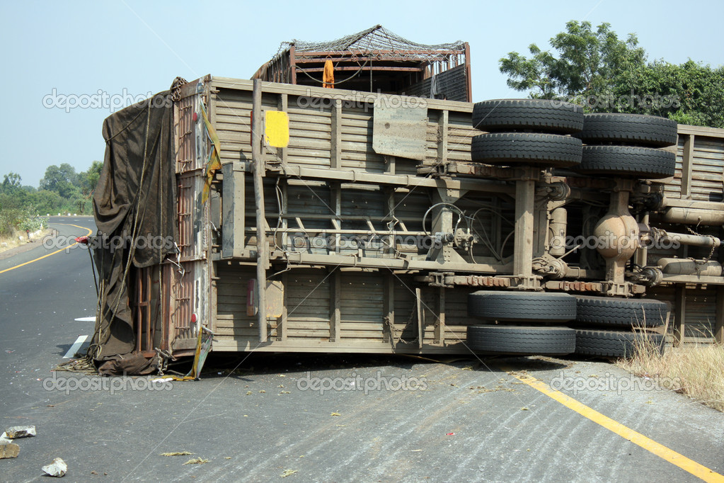 Truck Accident — Stock Photo © thefinalmiracle #2993495