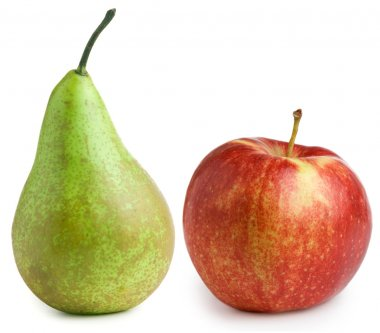 Apple pear isolated on white background