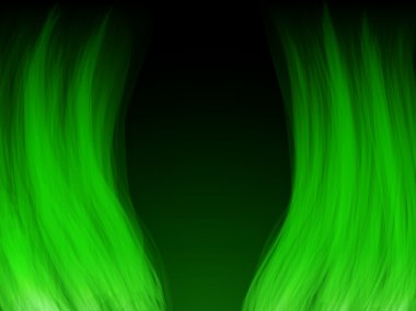 Green Flames. Color and forms are editable.