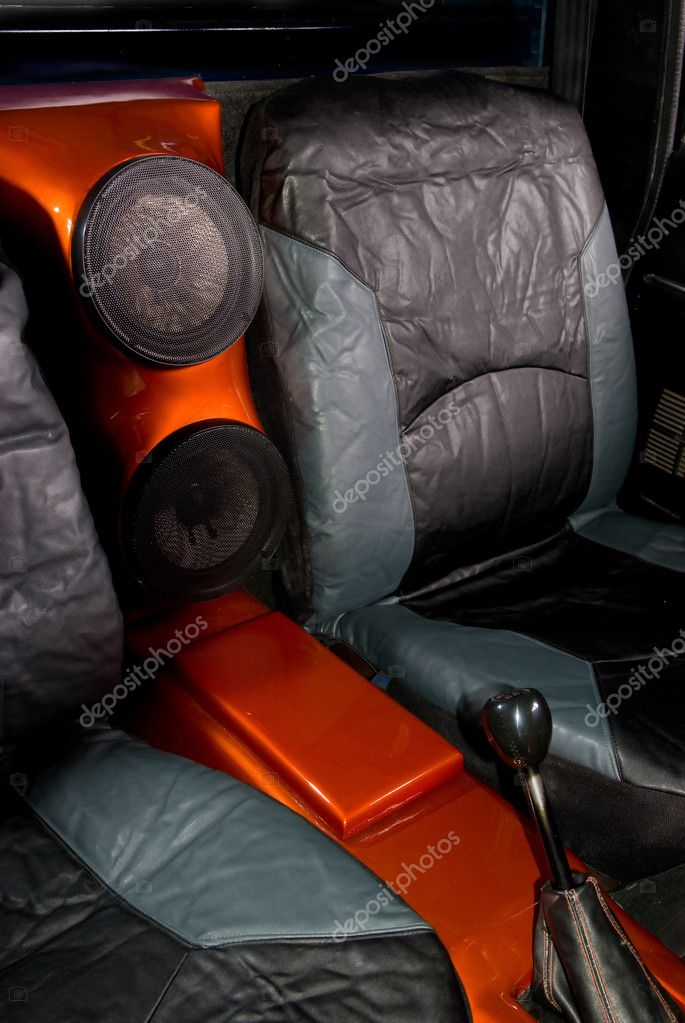 An Interior Of A Completely Custom Truck With Leather Seats And Central  Stereo Speakers. U2014 Photo By Vesivus