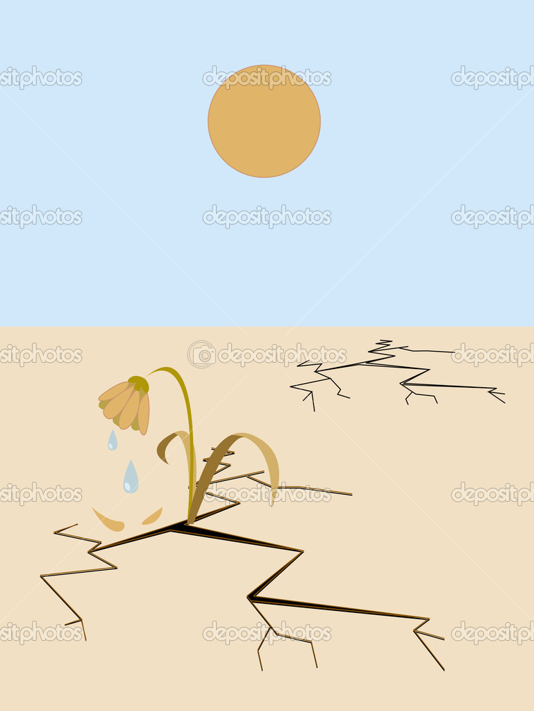 Droughty landscape