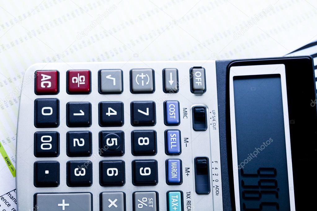 Diyagram Ve Hesap Makinesi Ofis I Leri Stok Foto
