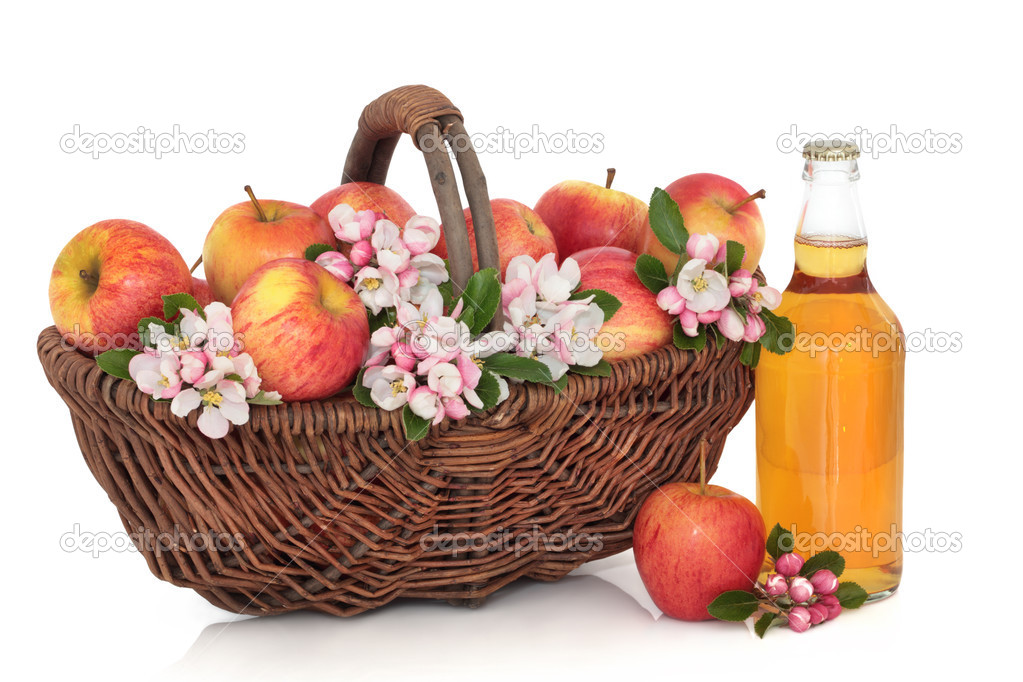 Cider, Apples and Flower Blossom