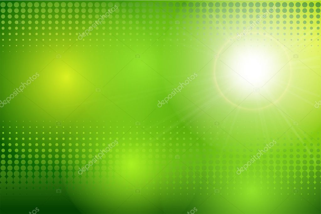 Vector abstract background green