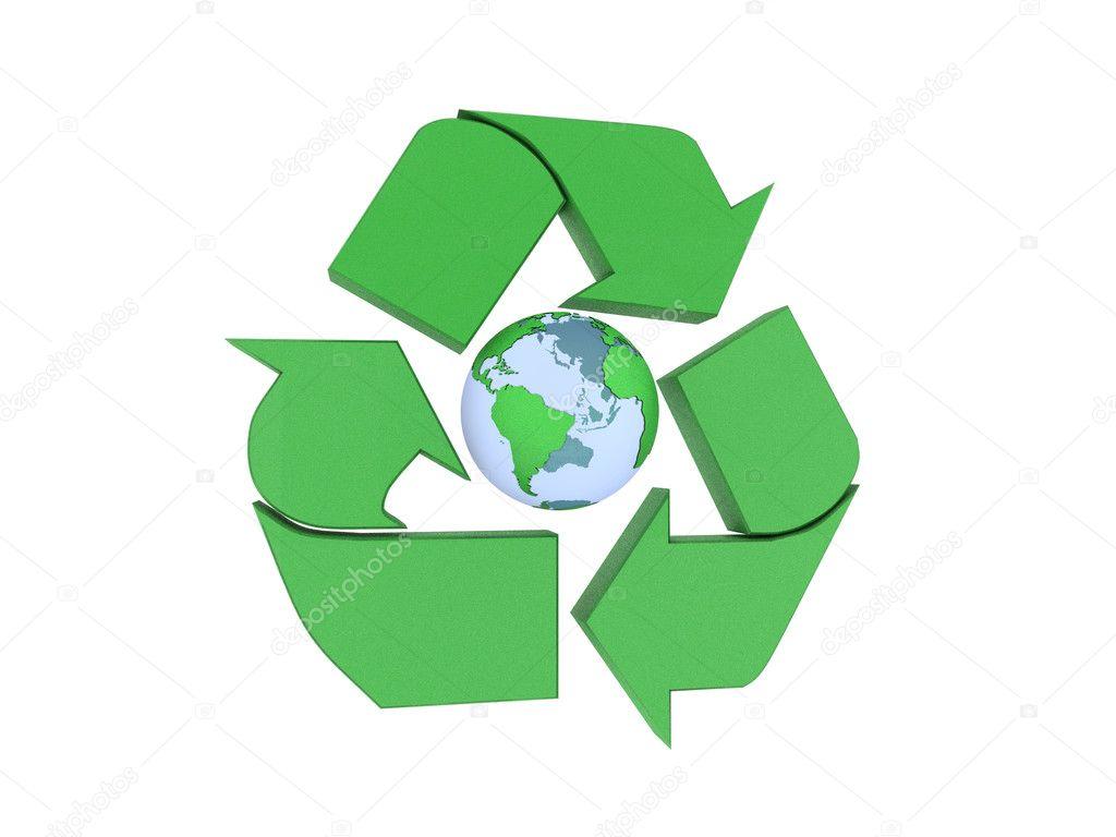 Signo De Reciclaje Y De La Tierra