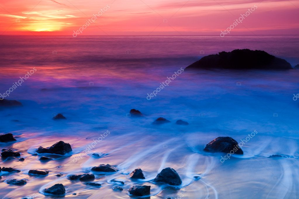 Rocky Coast Sunset