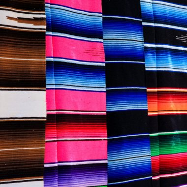 Colorful Mayan Blankets