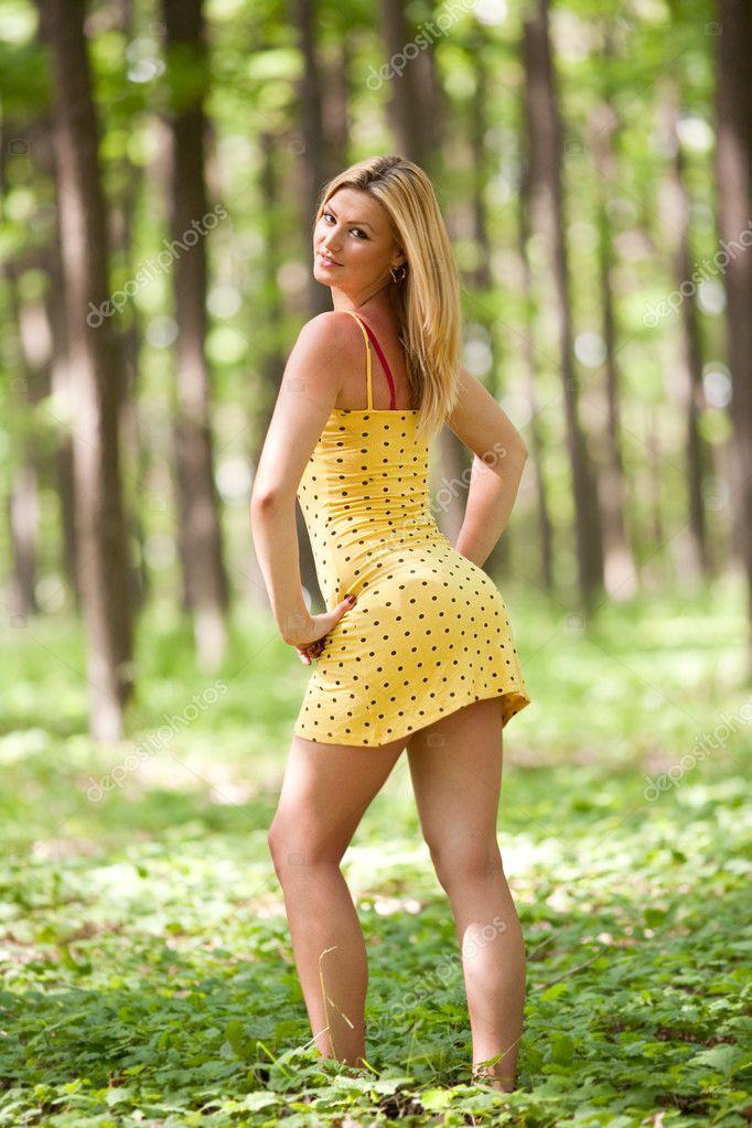 Attractive lady outdoor