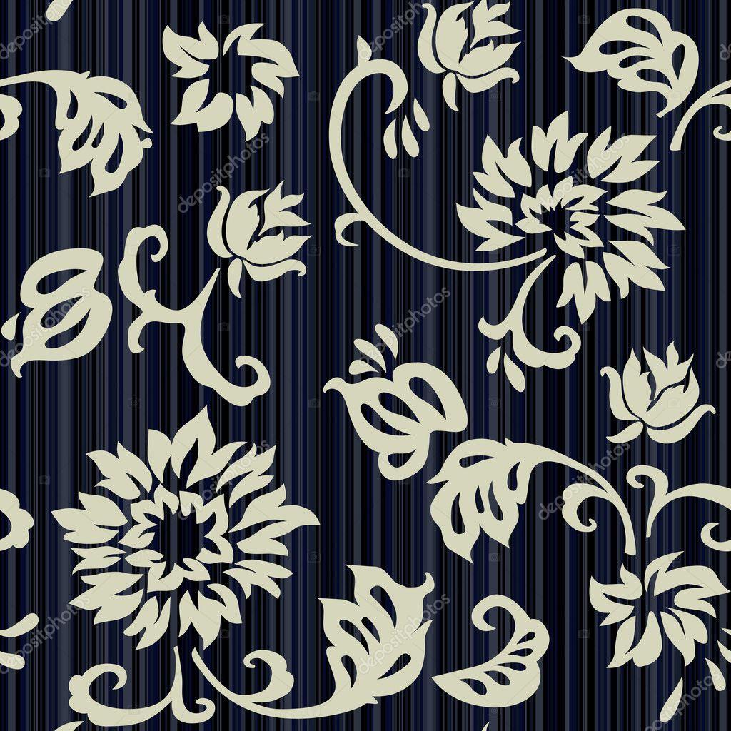 レトロ花柄シームレスな壁紙 ストックベクター C Lakalla 3194656