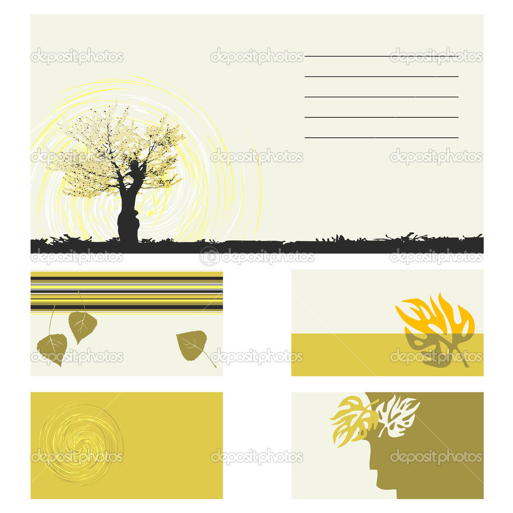 Business card - vector collection