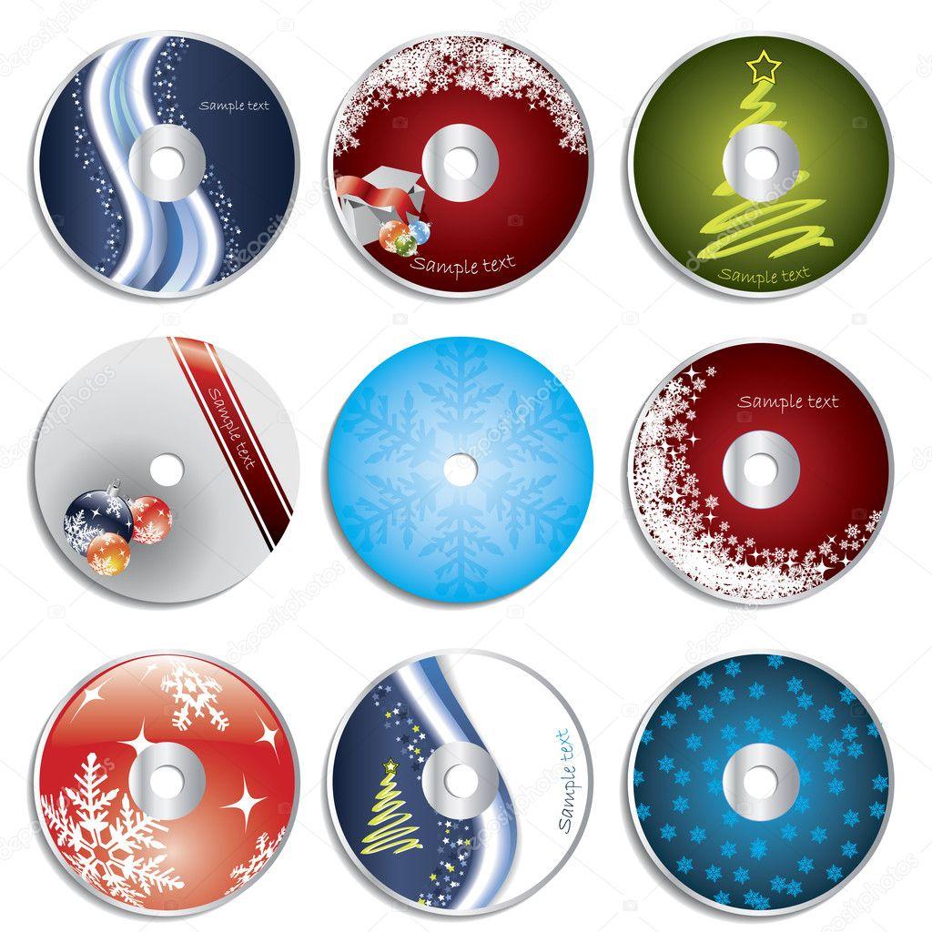 クリスマス cd dvd ラベル ストックベクター vipervxw 2701013