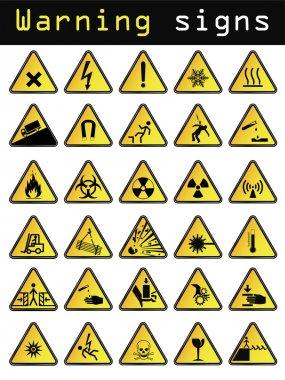 Vector warning icons stock vector